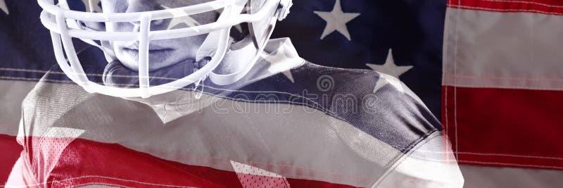 Samengesteld beeld van close-up van rode en witte Amerikaanse vlag stock foto's