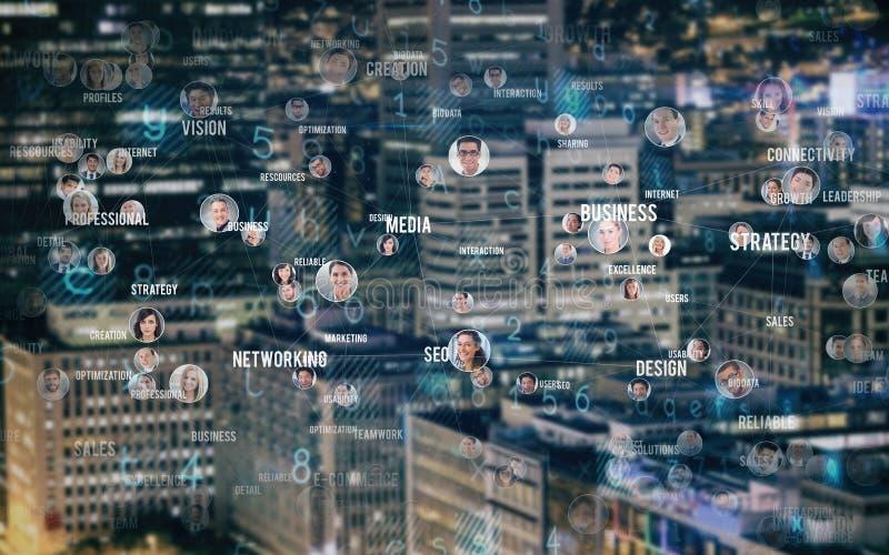 Samengesteld beeld van collage van mensen stock afbeeldingen