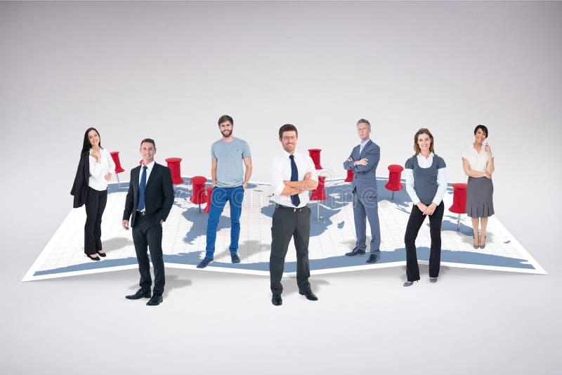Samengesteld beeld van commercieel team royalty-vrije stock afbeeldingen