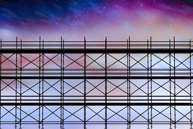 Samengesteld beeld van 3d beeld van bouwsteiger stock illustratie