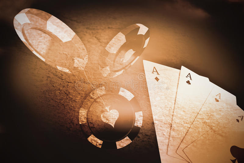 Samengesteld beeld van 3d beeld van rood casinoteken vector illustratie