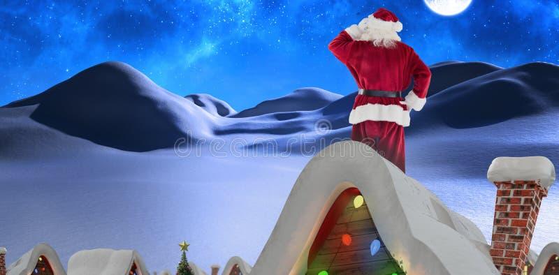Samengesteld beeld van de Kerstman stock afbeelding