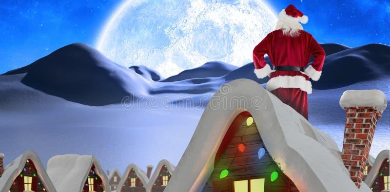 Samengesteld beeld van de Kerstman stock afbeeldingen