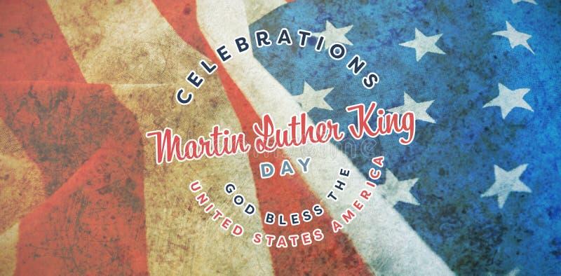 Samengesteld beeld van de koningsdag van Martin luther royalty-vrije stock fotografie