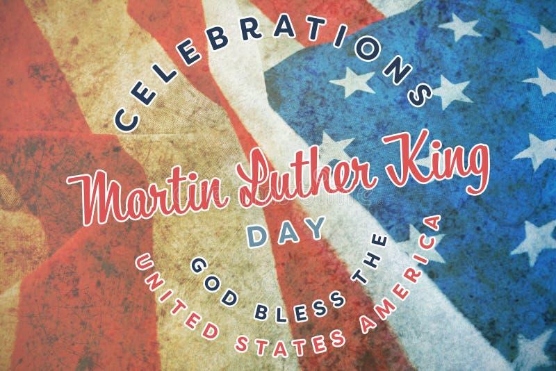 Samengesteld beeld van de koningsdag van Martin luther royalty-vrije stock foto