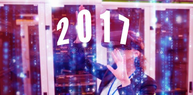 Samengesteld beeld van digitaal beeld van nieuw jaar 2017 royalty-vrije stock foto's