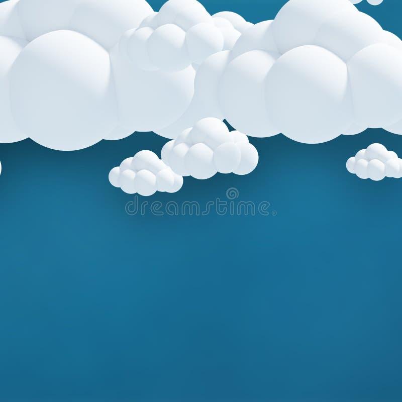 Samengesteld beeld van digitaal geproduceerd beeld van 3d wolken stock foto's