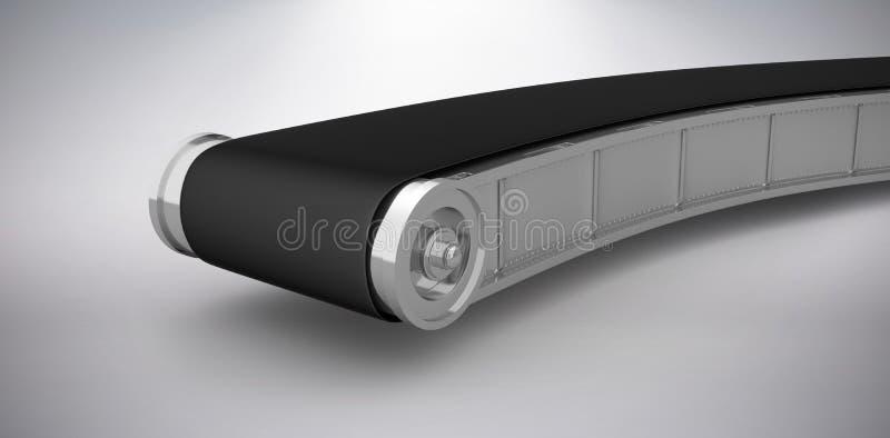 Samengesteld beeld van digitaal geproduceerd beeld van lege 3d transportband stock illustratie
