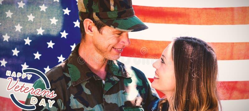 Samengesteld beeld van embleem voor veteranendag in Amerika royalty-vrije illustratie
