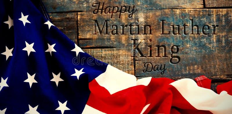 Samengesteld beeld van gelukkige de koningsdag van Martin luther royalty-vrije stock foto