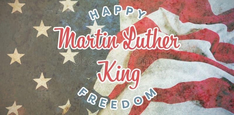 Samengesteld beeld van gelukkige de koningsvrijheid van Martin luther royalty-vrije stock afbeeldingen