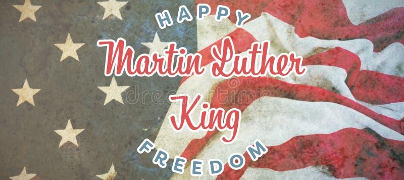 Samengesteld beeld van gelukkige de koningsvrijheid van Martin luther royalty-vrije stock foto