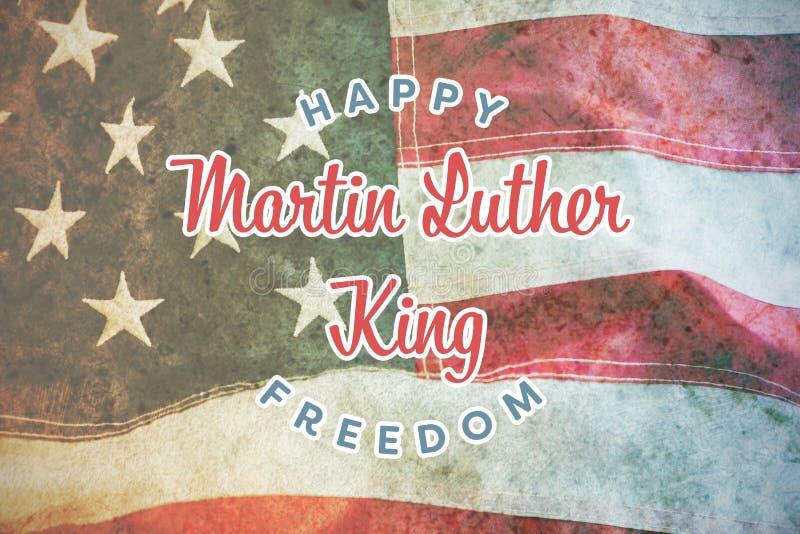 Samengesteld beeld van gelukkige de koningsvrijheid van Martin luther stock afbeeldingen