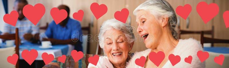 Samengesteld beeld van grafisch beeld van hartvormen royalty-vrije stock afbeelding