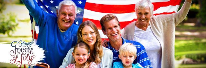 Samengesteld beeld van grafisch onafhankelijkheidsdag stock afbeeldingen
