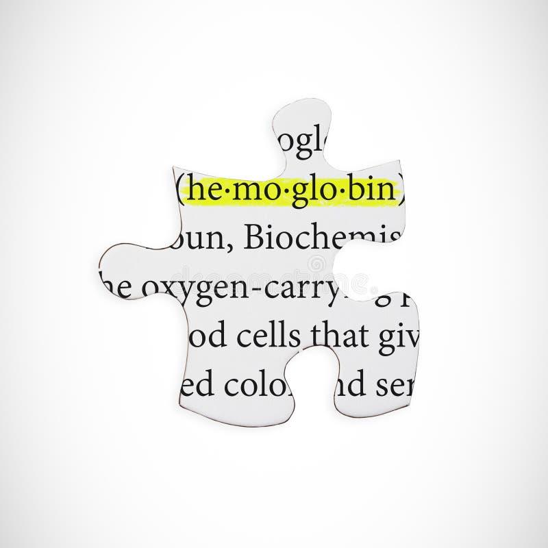 Samengesteld beeld van hemoglobine royalty-vrije illustratie