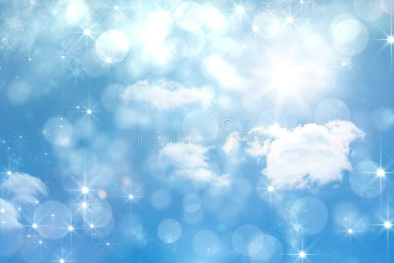 Samengesteld beeld van het flikkeren licht ontwerp op blauw stock illustratie