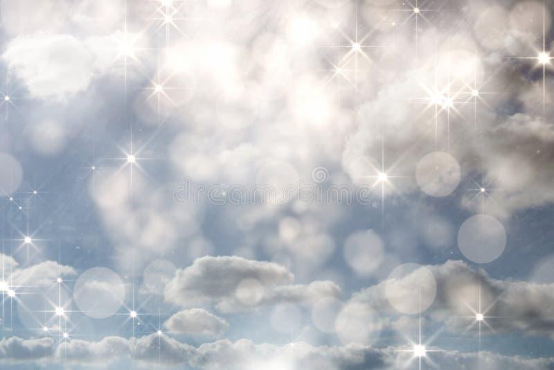 Samengesteld beeld van het flikkeren licht ontwerp op grijs stock illustratie