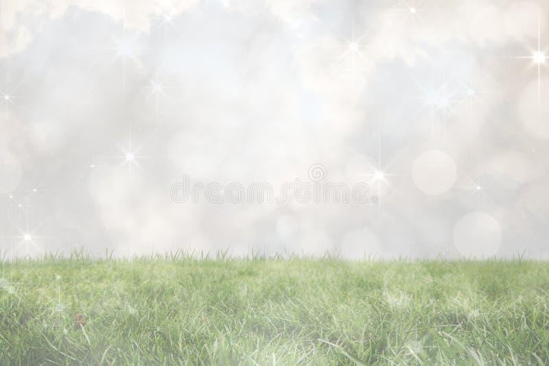 Samengesteld beeld van het flikkeren licht ontwerp op grijs royalty-vrije illustratie