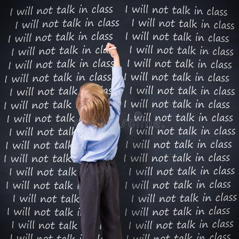 Samengesteld beeld van het leuke leerling schrijven stock afbeelding
