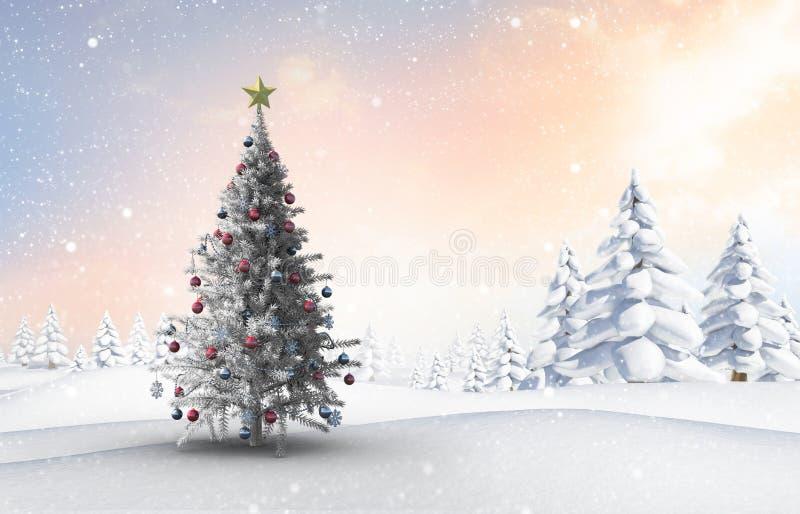 Samengesteld beeld van Kerstmisboom royalty-vrije illustratie