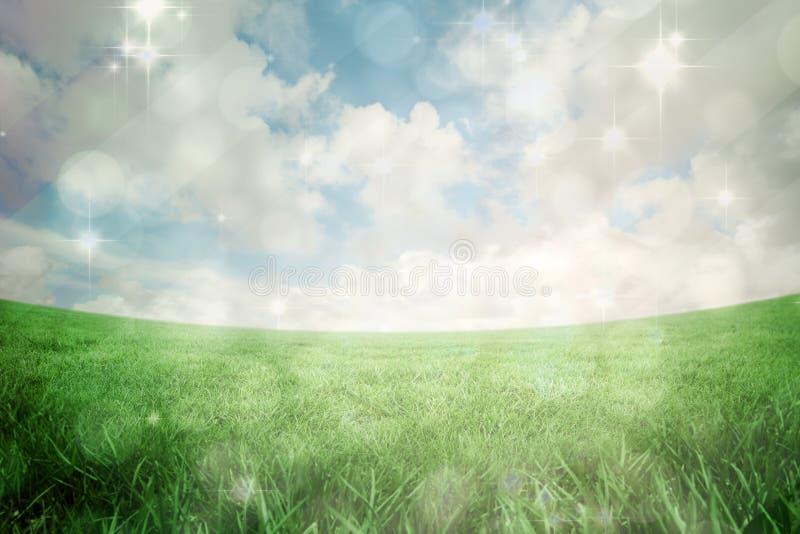 Samengesteld beeld van licht ontwerp die op groen flikkeren vector illustratie
