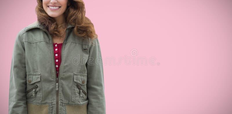 Samengesteld beeld van samengesteld beeld van mooie vrouwen die vrijetijdskleding dragen stock afbeelding