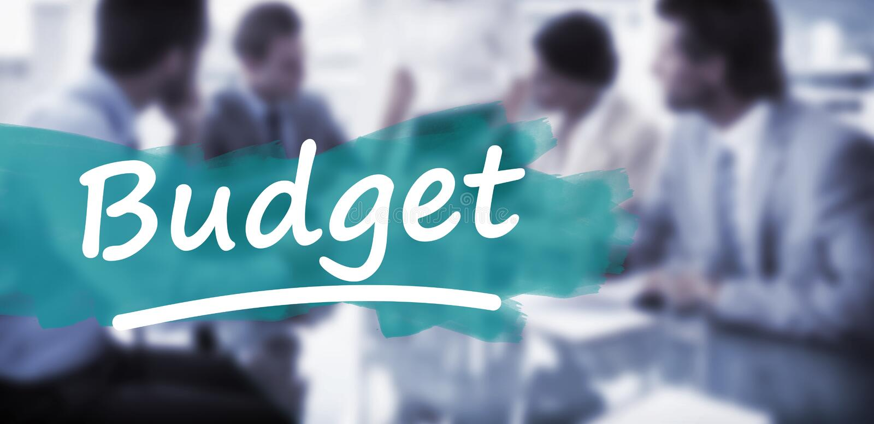Samengesteld beeld van onderstreept woordbegroting royalty-vrije stock foto