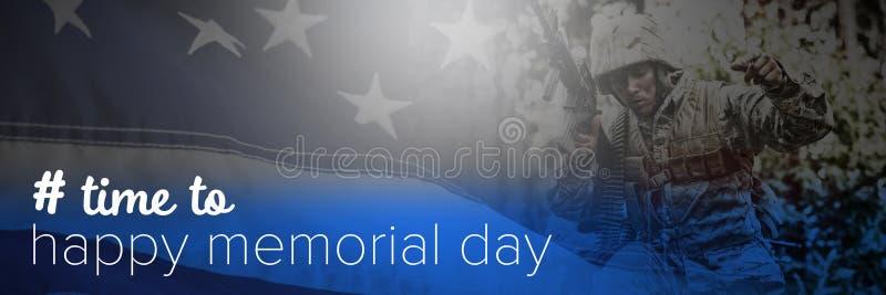Samengesteld beeld van tijd aan gelukkige herdenkingsdag royalty-vrije stock afbeelding
