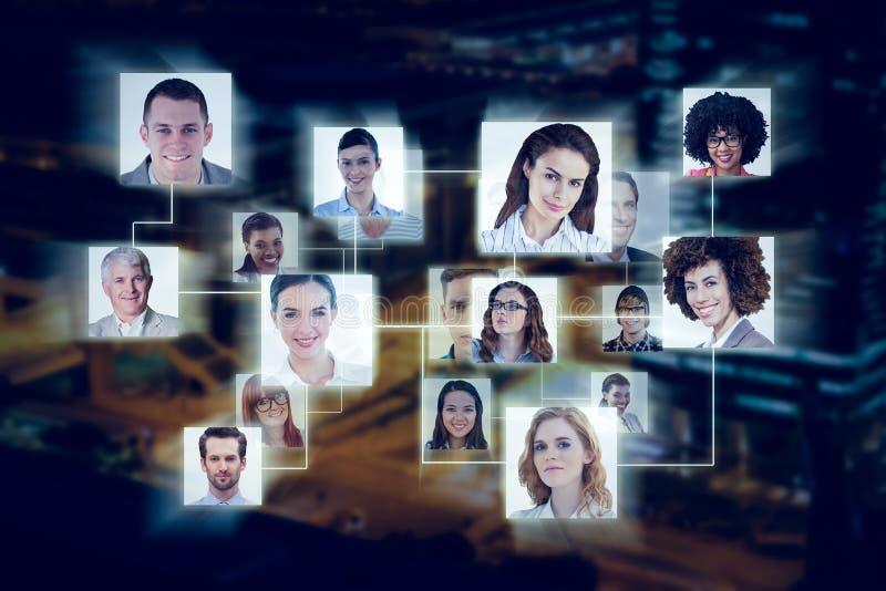 Samengesteld beeld van verbinding tussen mensen royalty-vrije stock fotografie