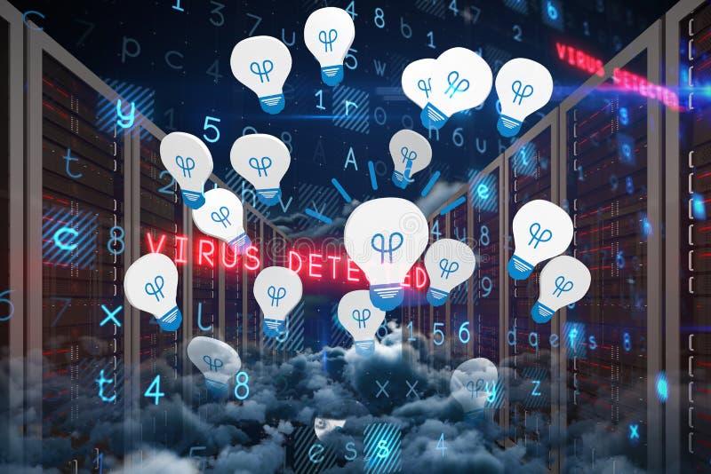 Samengesteld beeld van virusachtergrond vector illustratie