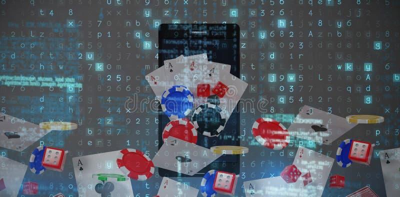 Samengesteld beeld van virusachtergrond royalty-vrije stock fotografie
