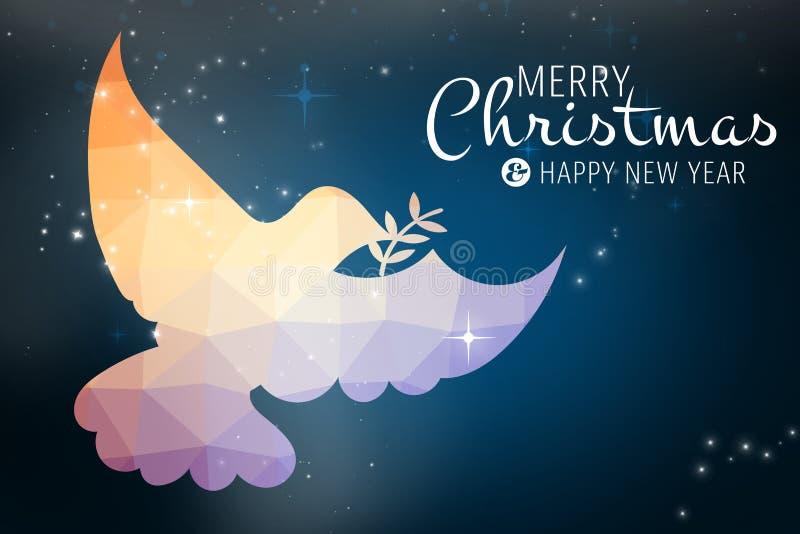 Samengesteld beeld van vrolijk Kerstmisbericht vector illustratie