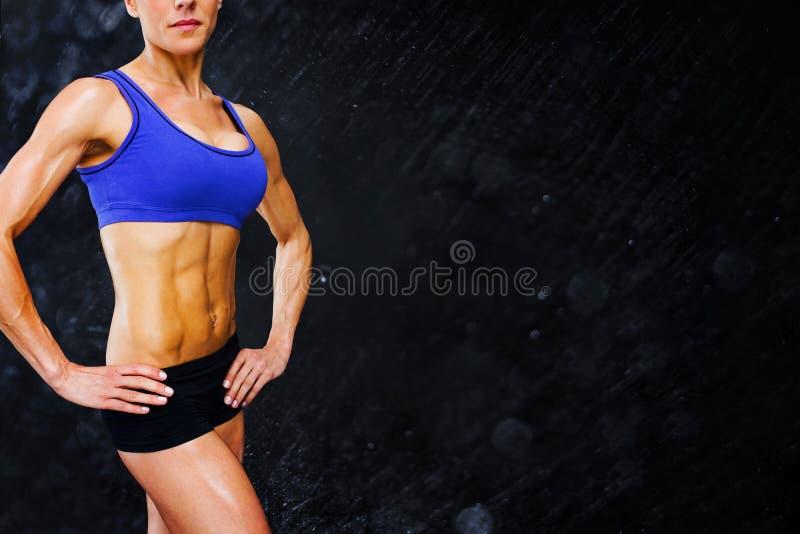 Samengesteld beeld van vrouwelijke bodybuilder vector illustratie