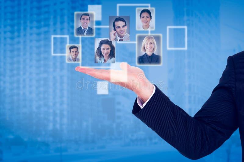 Samengesteld beeld van zakenman het voorstellen royalty-vrije stock foto's