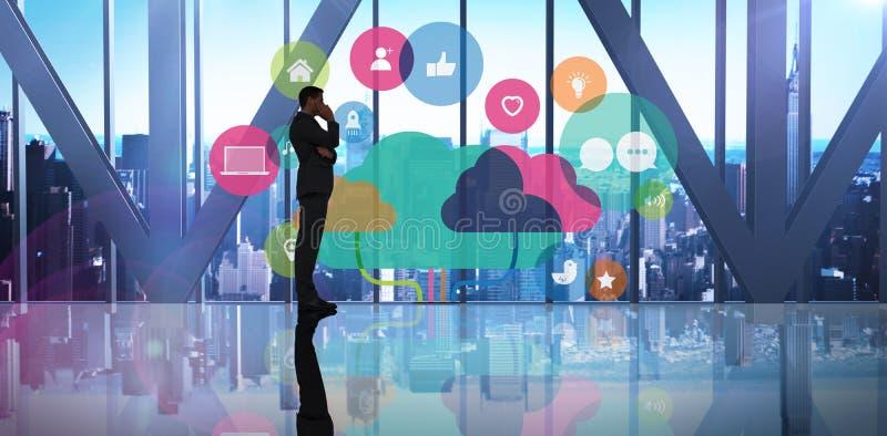 Samengesteld beeld van zakenman status vector illustratie