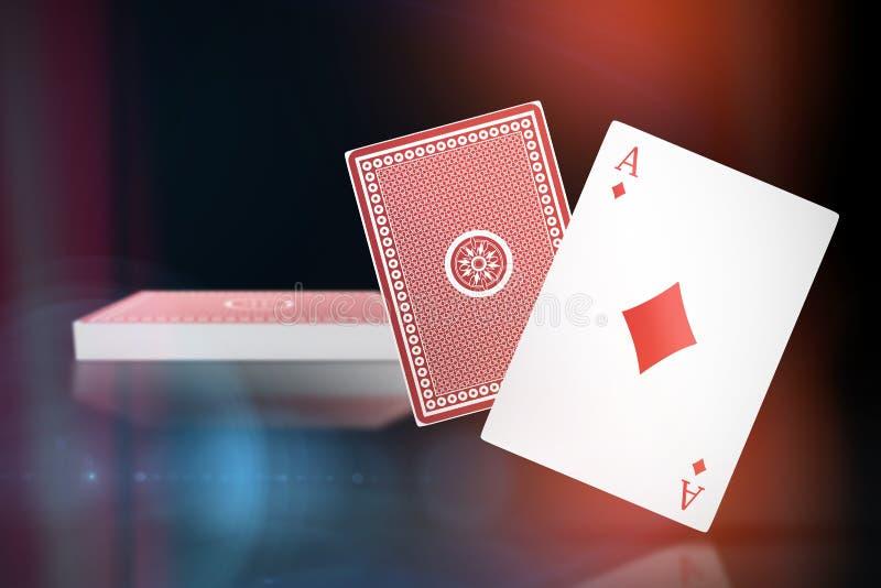 Samengesteld 3d beeld van aas van diamantenkaart vector illustratie