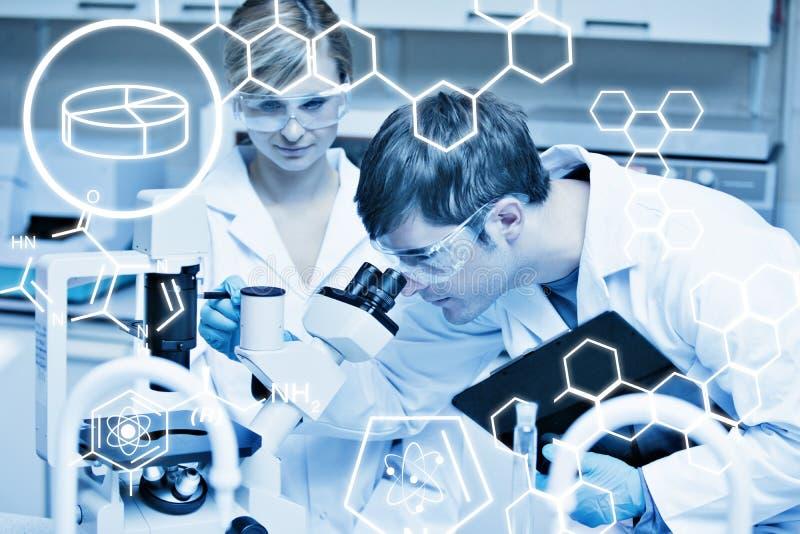 Samengesteld grafisch beeld van wetenschap royalty-vrije stock foto