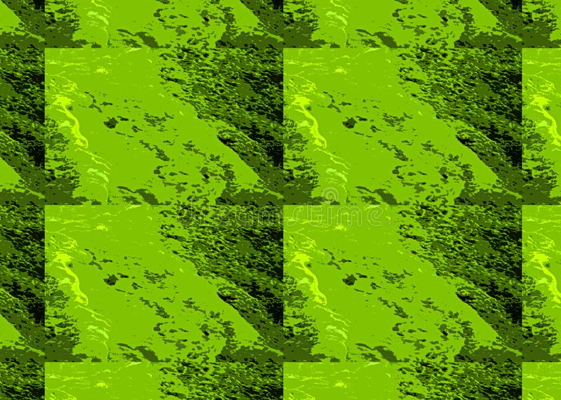 SAMENGESTELDE NAAST ELKAAR VAN GROENE ABSTRACTE MARMERINGStextuur vector illustratie