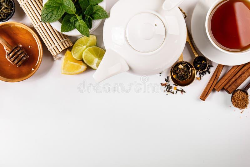 Samengestelde specerijen en thee royalty-vrije stock fotografie