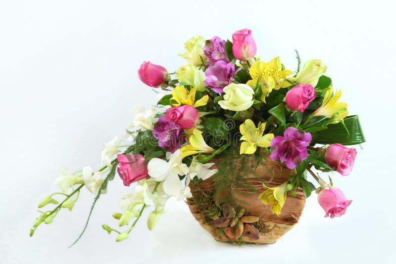 Samenstelling met bloemen stock afbeeldingen