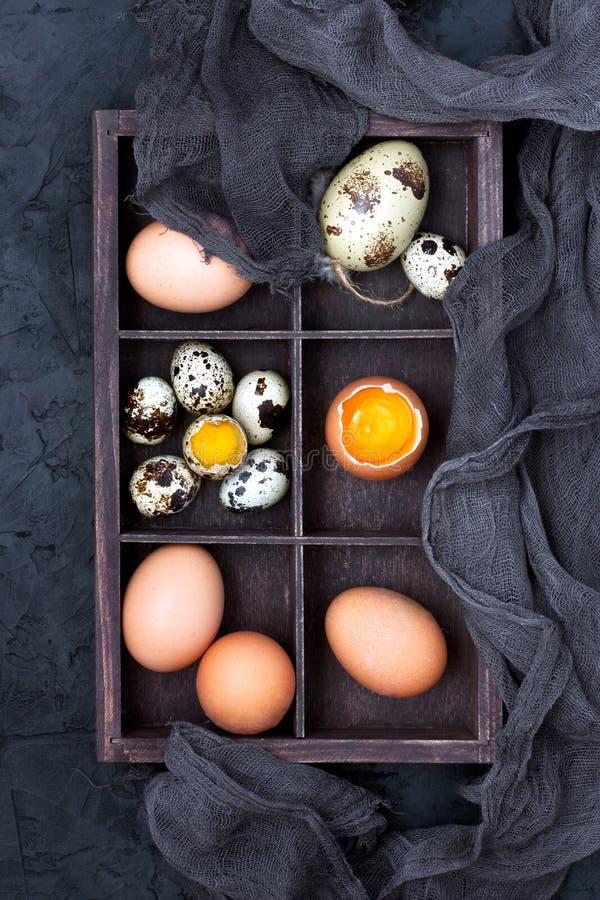 Samenstelling met de kleurrijke eieren van Pasen stock foto
