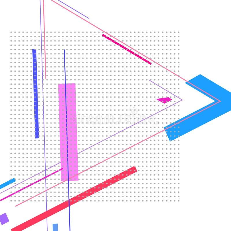 Samenstelling met gekleurde driehoek en punten stock illustratie