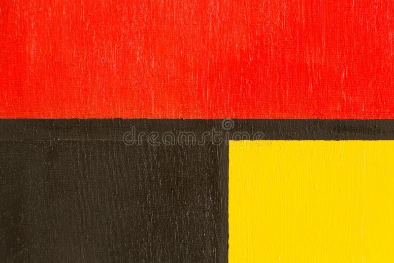 Samenstelling met rood, blauw en geel stock illustratie