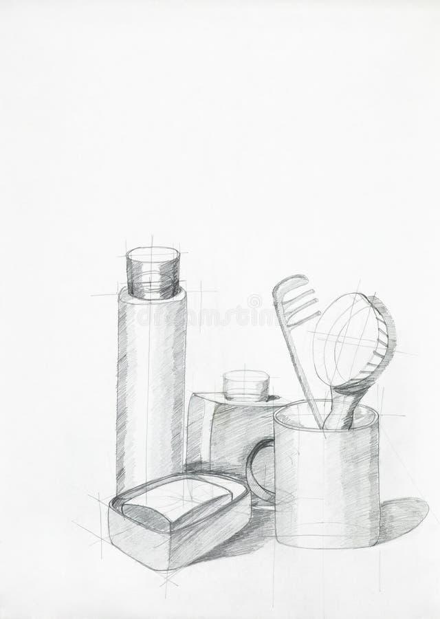 Samenstelling met voorwerpen royalty-vrije illustratie
