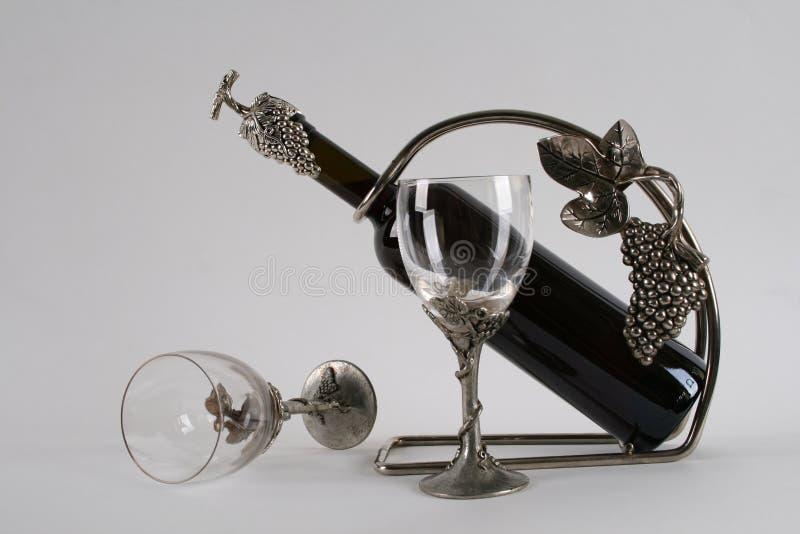 Samenstelling met wijnglazen royalty-vrije stock afbeeldingen