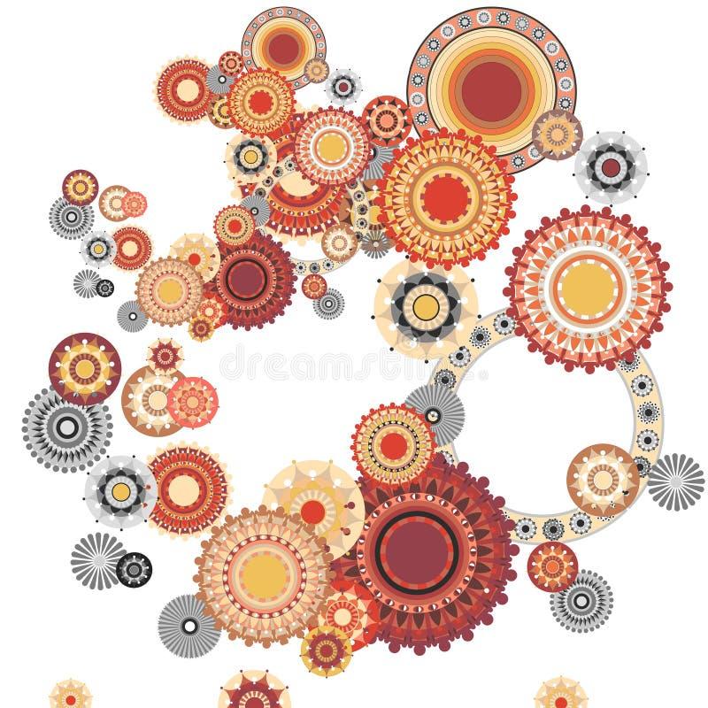 Samenstelling in sinaasappel vector illustratie