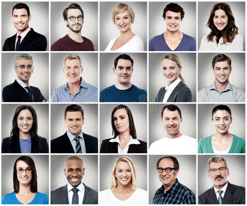Samenstelling van aantrekkelijk glimlachende mensen royalty-vrije stock afbeelding