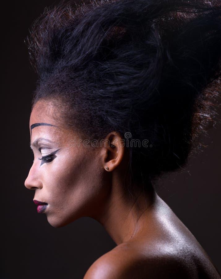 Samenstelling van Afrikaans-Amerikaans meisje royalty-vrije stock foto