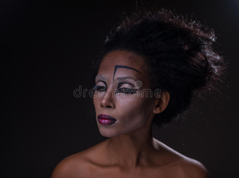 Samenstelling van Afrikaans-Amerikaans meisje royalty-vrije stock foto's